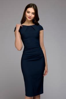 Синее платье-футляр 1001 DRESS