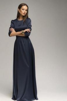 Атласное платье макси с рукавом 3/4 1001 DRESS