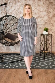 Платье из ткани гусиные лапки Шарлиз