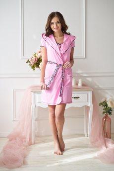 Женский розовый халат Шарлиз