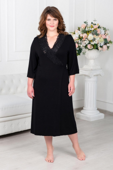 Черный тонкий халат Шарлиз