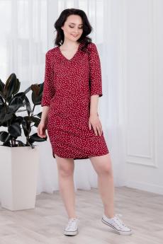 Красное платье в горошек Шарлиз