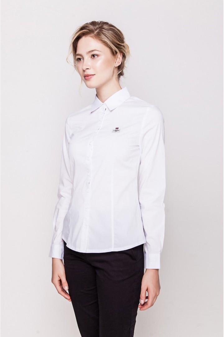 abed076c890c Белая классическая женская блузка Marimay